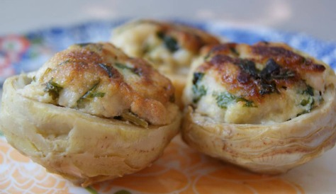 Recipe for artichoke bottom stuffed with tilapia