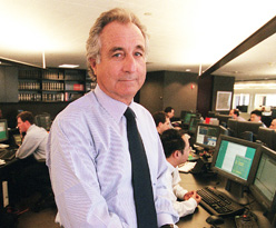 Bernard L. Madoff, chairman of Madoff Investment Securities, seen on his Manhattan trading floor in this 1999 file photo. (AP)