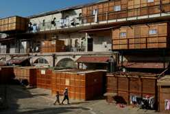 Wooden  Sukkoth built in Mea Shearim neighborhood in Jerusalem (Getty Images)