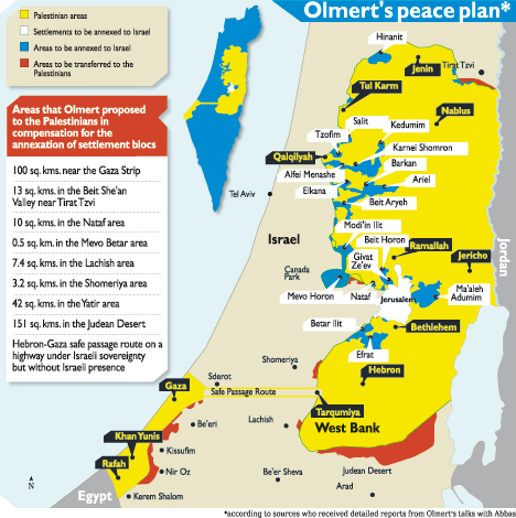 Olmert peace plan presented to Abu Mazen as reconstructed by Haaretz - 17 Dec 09