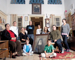 The Shaya family in their Jaffa home
