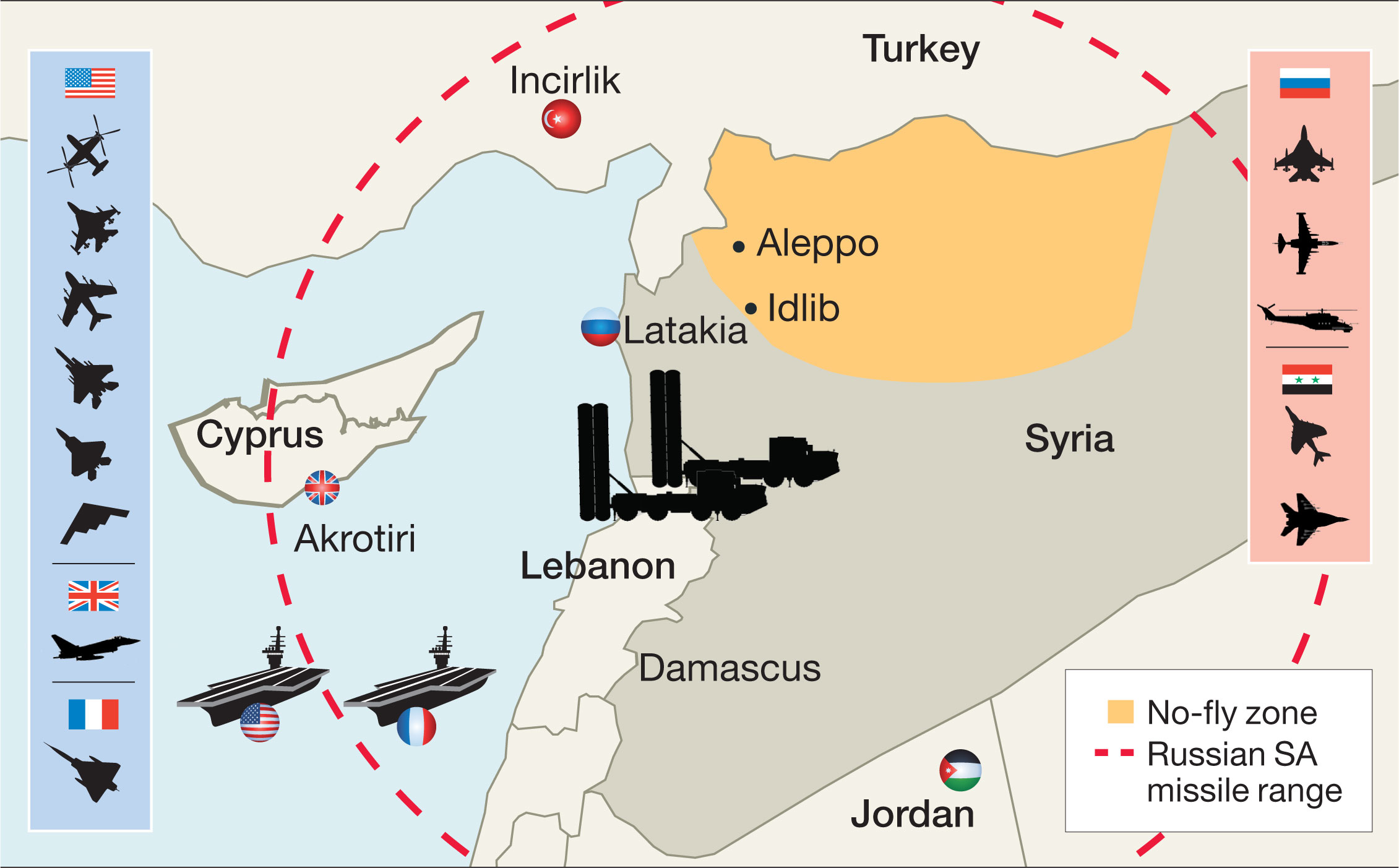 Hillary Clintons War Can A Nofly Zone Over Syria Work - Us no fly zones map