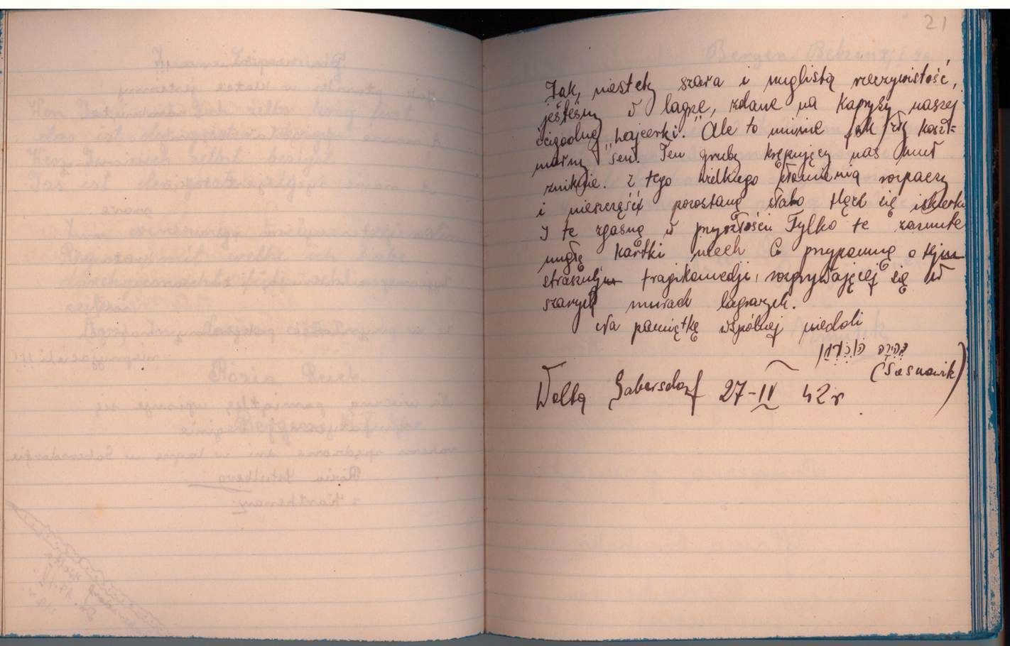 Diary Entry as a Jewish Child During Hitler's reign