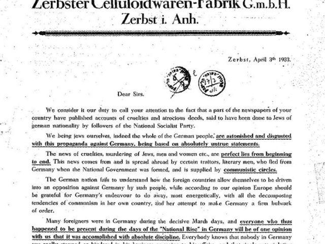 The Jews Who Opposed Boycotting Nazi Germany